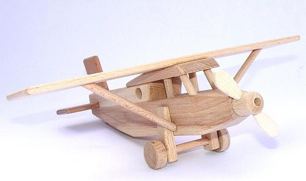 Holzspielzeug flugzeug für kinder lkw