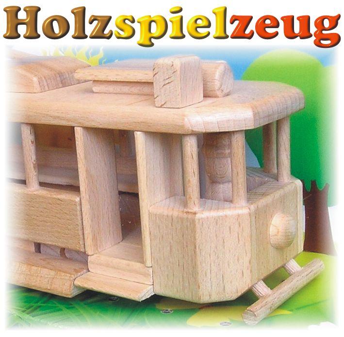 stra enbahnen holzspielzeug f r kinder lkw flugzeuge stra enbahn bus. Black Bedroom Furniture Sets. Home Design Ideas