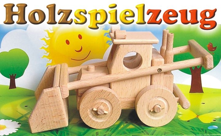 holz bagger spielzueg holzspielzeug flugzeuge lkw bus traktor. Black Bedroom Furniture Sets. Home Design Ideas
