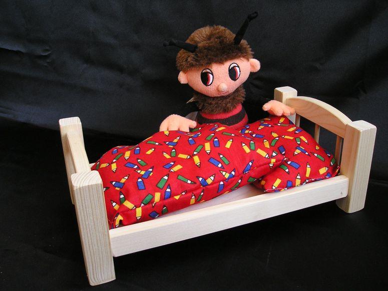 Puppenwagen Holz FUr 2 Jährige ~ Holzpuppenbett inkl Bettwäsche Tolle Puppenbettchen für Spiele mit