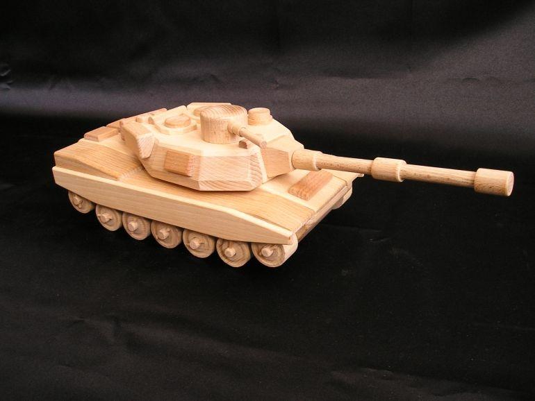 amerikanischer holzpanzer abrams holzspielzeug f r kinder lkw flugzeuge stra enbahn bus. Black Bedroom Furniture Sets. Home Design Ideas