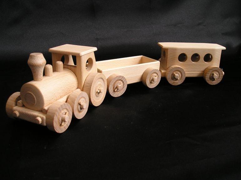 holz zug eisenbahn spielzeuge holzspielzeug f r kinder lkw flugzeuge stra enbahn bus. Black Bedroom Furniture Sets. Home Design Ideas