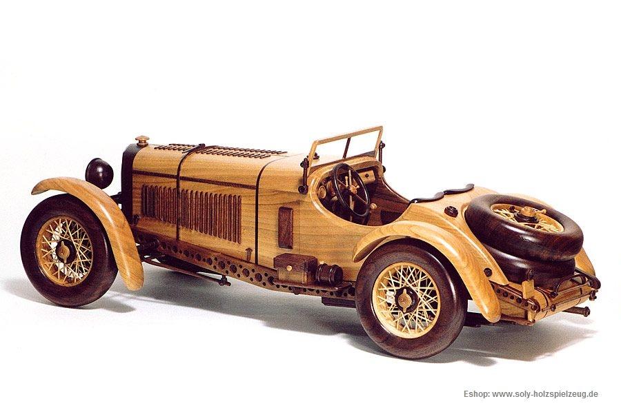 gro e mercedes benz sskl sport 1931 modelle von pkw aus holz holzspielzeug f r kinder lkw. Black Bedroom Furniture Sets. Home Design Ideas