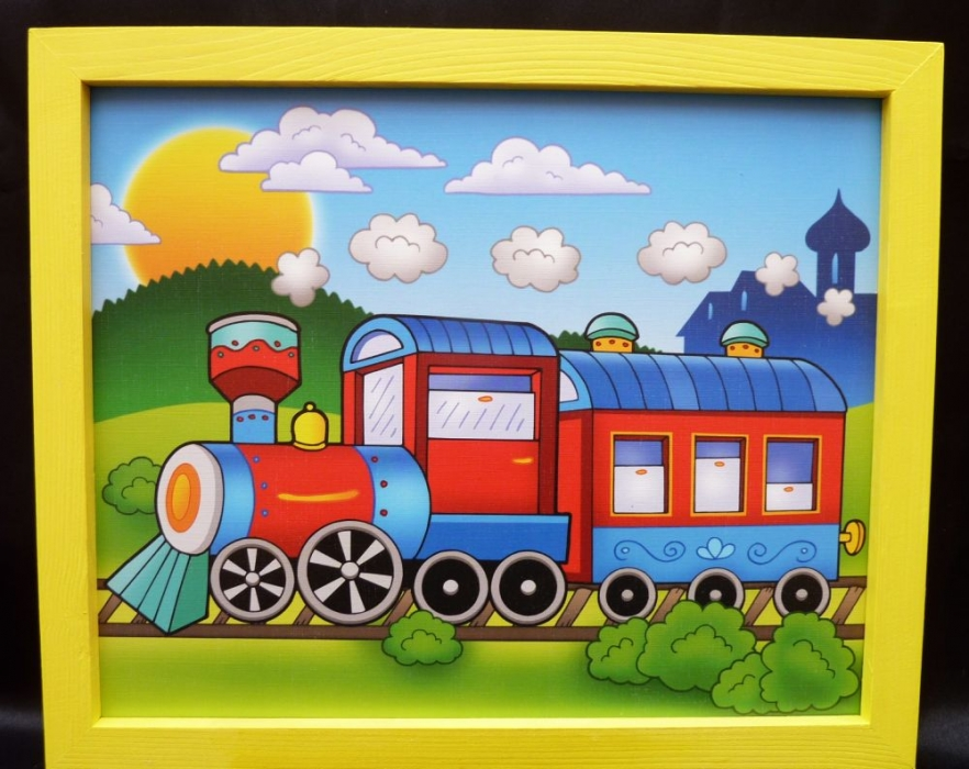 bilder für's kinderzimmer - zug - holzspielzeug für kinder lkw ... - Kinderzimmer Eisenbahn Deko