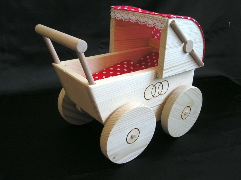 Lauflern Puppenwagen Aus Holz ~ Puppenwagen aus Naturholz