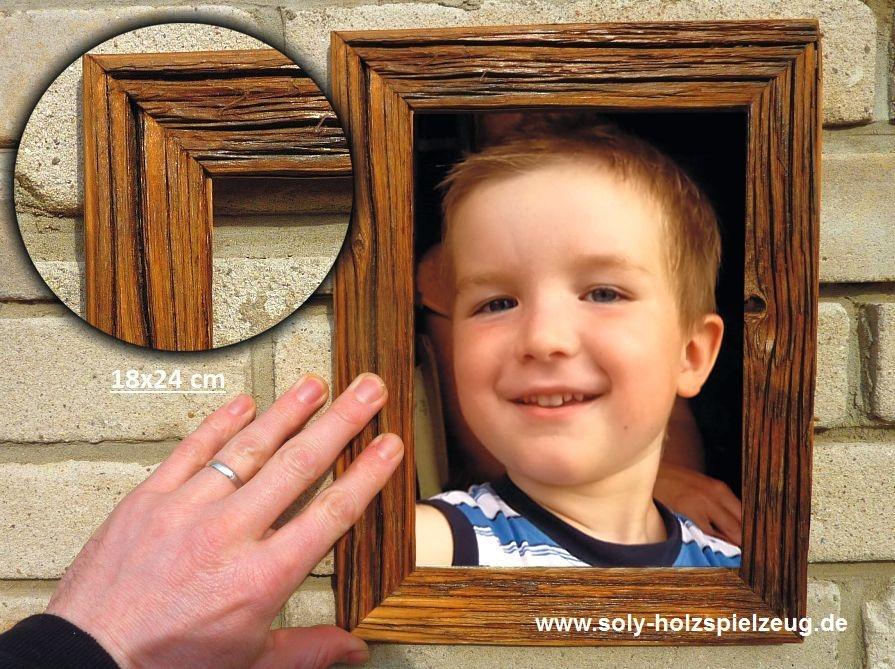 18x24 cm Fotorahmen aus Holz, natur - Holzspielzeug für Kinder LKW ...
