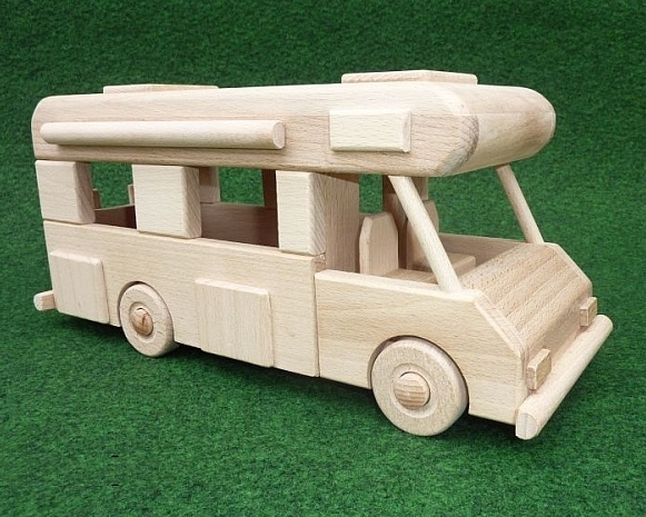Wohnwagen spielzeug für kinder aus holz holzspielzeug