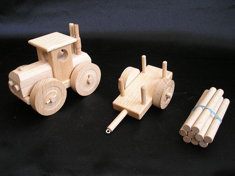 kinder traktor spielzeug aus holz geschenk holzspielzeug f r kinder lkw flugzeuge stra enbahn bus. Black Bedroom Furniture Sets. Home Design Ideas