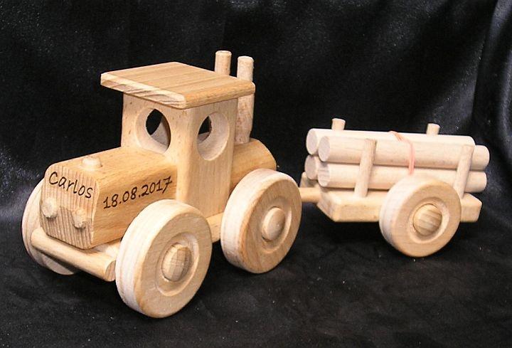 Bauernhof Holztrecker Traktor Holzspielzeug Spielzeug Holzspielzeug