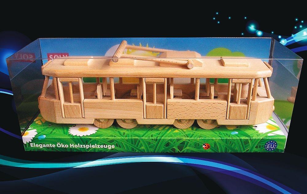 Straßenbahn Modell Aus Holz ...