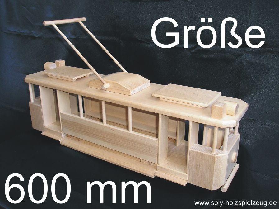 stra enbahn le grande l nge 58 cm holzspielzeug f r kinder lkw flugzeuge stra enbahn bus. Black Bedroom Furniture Sets. Home Design Ideas
