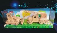 Bulldozer + Autokran Spielzeuge