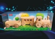 Personenzug aus Holz, Spielzeug Geschenk