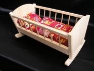 Holzpuppenwiege Spielzeug für Mädchen