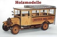 Hotel-Bus Hilton modelle aus Holz