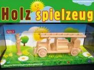Feuerwehrauto Holzspielzeug mit  der Feuerwehrmann