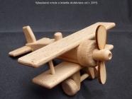 Kleinflugzeug aus Holz Spielzeug mit Luftschraube