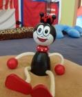 Ferdy Ameise auf der Sprungfeder Holzspielzeug