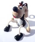 Hund auf der Feder Holzspielzeug