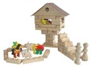 Tiere zoo Spielzeug Holz Würfel + puzzle
