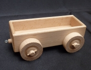 Der Wagen Zug aus Holz, leerer