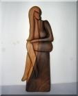 Weiblicher Akt Skulptur aus Holz