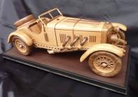Große mercedes Benz SSKL SPORT (1931) Modelle von Pkw aus holz