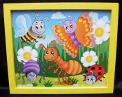 Bilder für's Kinderzimmer Biene Käfer Schmetterling Ameise Spinne