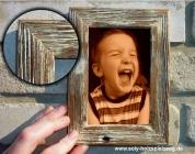 Retro Fotorahmen aus Holz 10x15 cm, pastelweiß