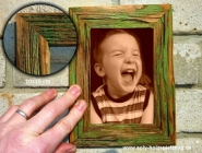 Fotorahmen aus Holz 10x15 cm, pastelgrün