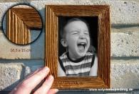 Fotorahmen aus Holz 10x15 cm, natur
