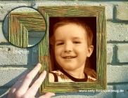 18x24 cm Fotorahmen aus Holz, grün