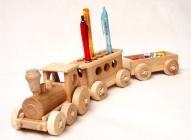 Holz Stifthalter Zug Spielzeug Bürodekoration
