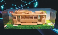 Holz-Straßenbahn - historischen Ringhoffer