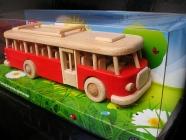 Reisen Bus Spielzeug groß, rot