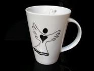 Qualität Porzellan Becher 0,4 l von mit einem Engel