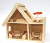Holz Puppenhaus mit Möbeln