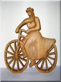 Biker Statuetten aus Holz