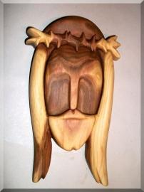 Jesus Christus Figur aus Holz