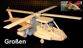 Apache-Hubschrauber aus Holz