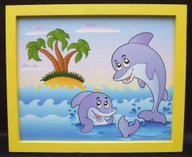 Delfin Kinder Bilder mit Rahmen