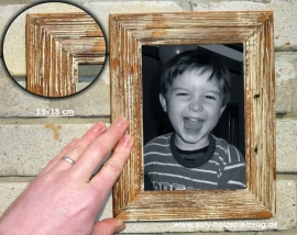 13x18 cm Fotorahmen aus Holz, weiß