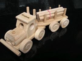 LKW HOlz-spielzeug mit Trailer