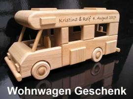 Wohnwagen Geschenk aus HOlz