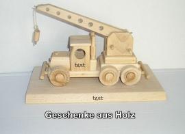 Auto-Kran Holz-Geschenk für Kranfahrer