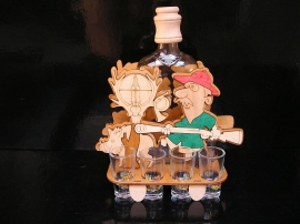 Geschenk für Jäger, Geburtstag Flasche