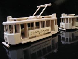 Spielzeug Holz Straßenbahn