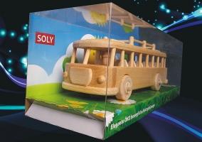 Holz-Bus Spielzeug - beweglichen