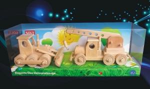 Bulldozer + Autokran Spielzeuge Geschenke
