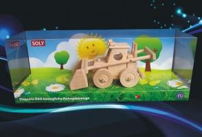 Bulldozer Spielzeug aus Holz, Geschenke